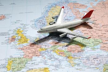 Europaurlaub-Flugreisen
